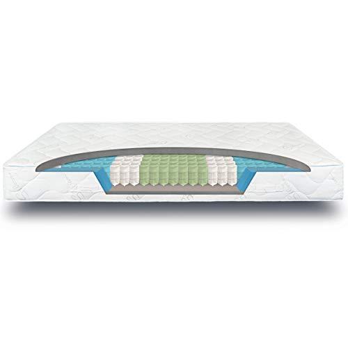 verapur Ortho Plus Taschenfederkernmatratze 160 x 200 cm H3, 7-Zonen Matratze, Tonnentaschenfederkernmatratze, waschbarer Bezug, Öko-Tex, 23 cm hoch