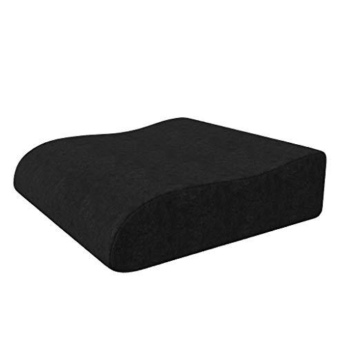 bonmedico Aufstehhilfe-Sitzkissen 40x40 - Ergonomisches Keilkissen aus PU-Schaum mit hohem Sitzkomfort - Sitzerhöhung für Bürostuhl, Auto, Sofa