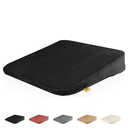 Mister Mountain Premium Sitz-Kissen - Bequemes Sitz-Polster mit Anti-Rutsch-Funktion für Home-Office & Büro – Für bessere Körper-Haltung - Schwarz