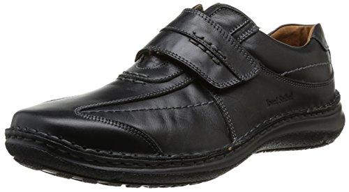 Josef Seibel Alec Herren Low-Top Sneaker Comfort Schuhe aus Nappaleder -Schwarz (600 schwarz),46 EU