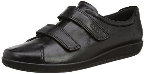 ECCO Damen Soft 2.0 Sneaker, Black with Black Sole 206513, 38 EU