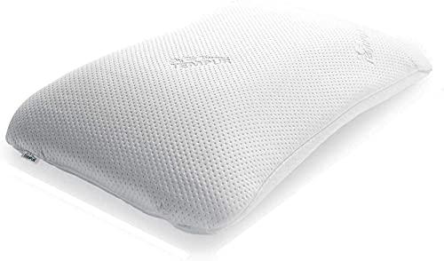 TEMPUR Symphony Schlafkissen ergonomisches Nackenstützkissen für Rücken-und Seitenschläfer, Memory Foam, Weiß, M (43 x 64 x 12,5 cm)