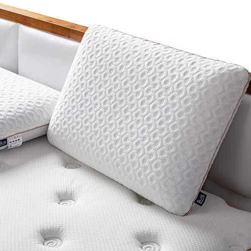 BedStory Memory Foam Kopfkissen, Orthopädisches Nackenstützkissen aus Viscoschaum mit Gel, Visco Kopfkissen 60 x 40 cm mit Abnehmbarem Bezug, passendes Kissen für Nackenverspannungen